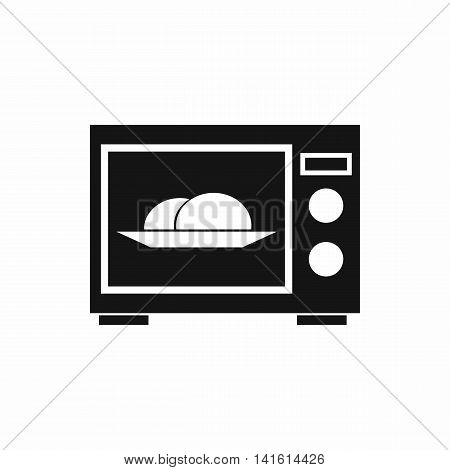 Microwave icon in simple style isolated on white background. Home appliances symbol