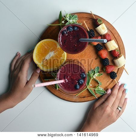 what could be better than a tasty and healthy breakfast . charge of vitamins and energy for the whole day