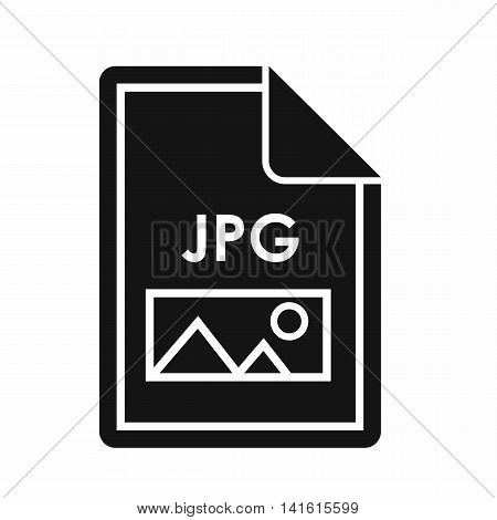 File JPG icon in simple style isolated on white background. Document type symbol