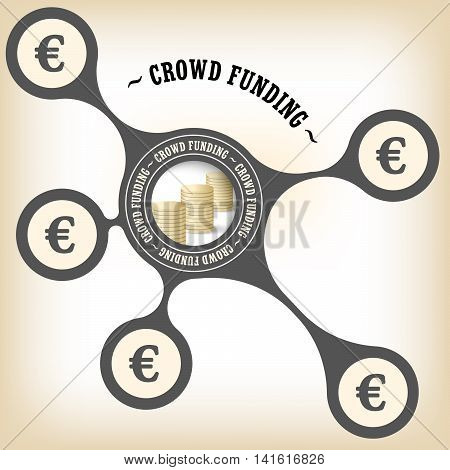 Vector object with theme of crowd funding