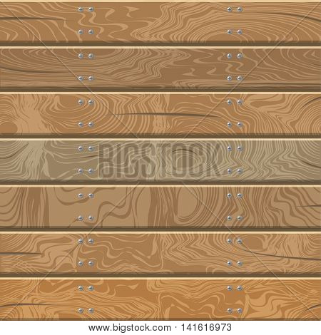 The floor and wall from wooden planks.