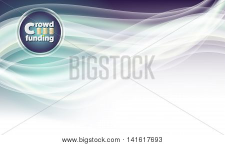 Vector abstract background and icon of crowdfunding