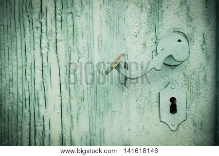 rustic green old retro wooden textured background