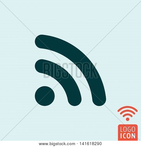RSS icon. Wifi signal symbol. Vector illustration