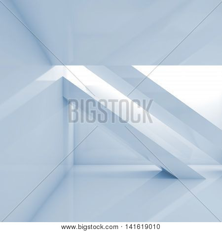 Abstract Interior 3 D Digital Square Background