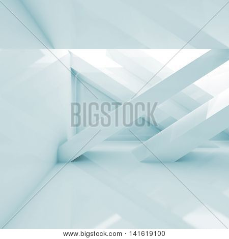 Abstract 3D Room Interior Square Background
