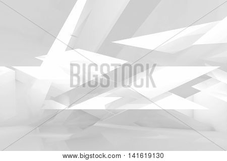Abstract White Background With Chaotic 3 D Structure