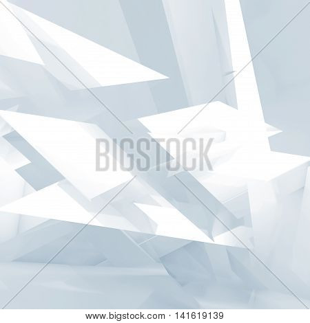Abstract 3 D Blue And White Digital Background