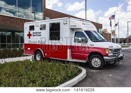 Indianapolis - Circa August 2016: American Red Cross Diaster Relief Van. The American National Red Cross provides emergency assistance and disaster relief II