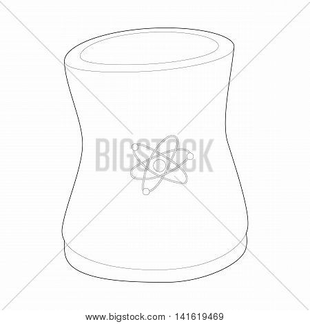 Cylinder for storage of substances icon in outline style isolated on white background. Manufacture symbol