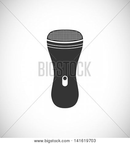 electric shaver black icon