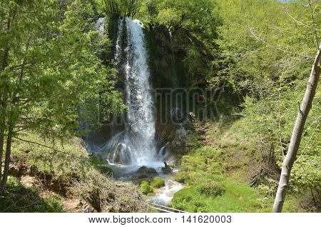 Gostilje Waterfall On The Zlatibor Mountain