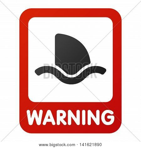 Attention shark icon danger button and attention warning sign. Attention security alarm symbol. Danger warning attention sign shark with symbol information and notification icon vector