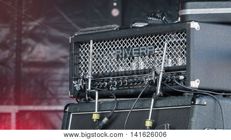 Amp Guitar For A Rock Concert
