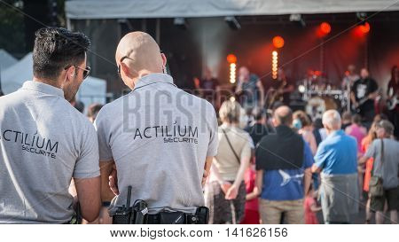 Security Agent During A Rock Concert