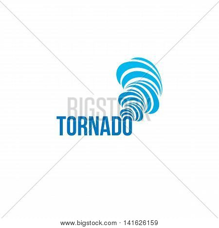 Isolated tornado vector logo. Spinning air logotype. Natural disaster illustration. Weather forecast element