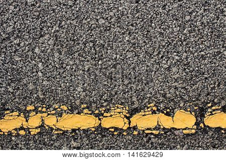 The road and yellow line foe background