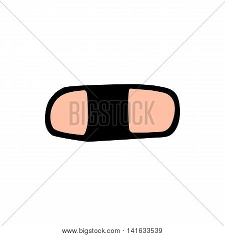 Eraser icon isolated on white background in style hand draw