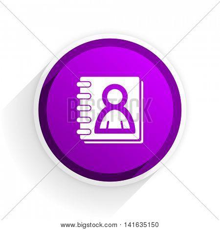 address book flat icon