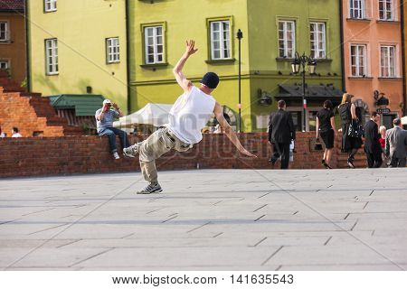 Dancing On The Square In Warsaw, Poland