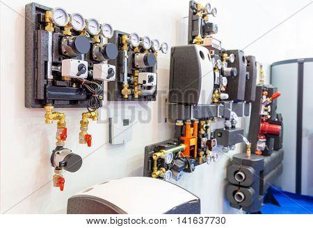 Modular block of heating system