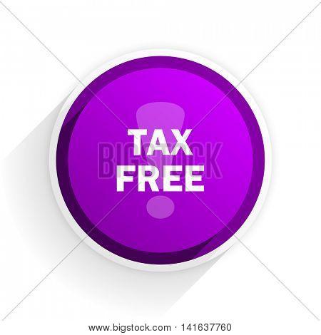 tax free flat icon