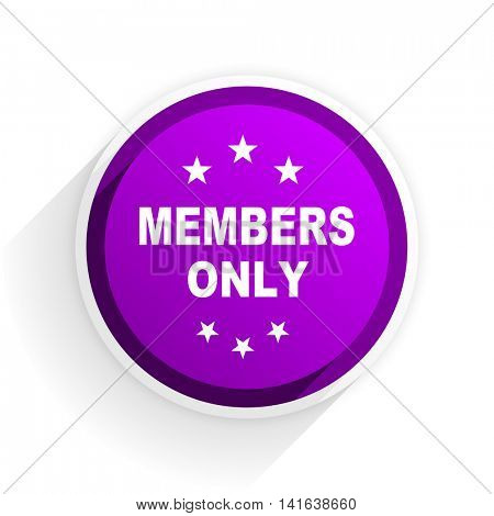 members only flat icon