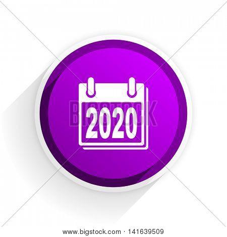 new year 2020 flat icon