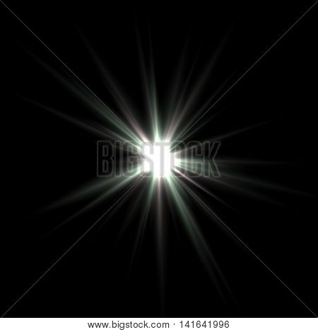 The bright star in the form of large splashes in the black cosmic space.