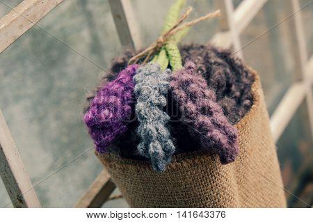 Handmade Gift, Knitted Lavender Flower