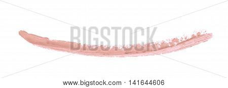 Single line marker stroke of a wax crayon as a design underline element, isolated over the white background