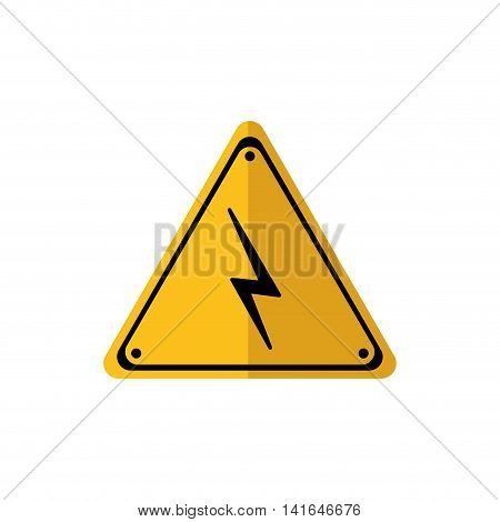 road sign thunder battery power energy icon. Isolated and flat illustration. Vector graphic