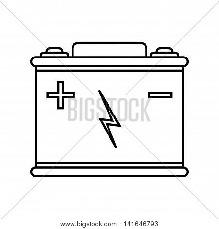 battery car power energy technology icon. Isolated and flat illustration. Vector graphic