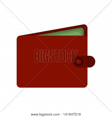 shopping wallet bill commerce consumerism icon. Isolated and flat illustration. Vector graphic