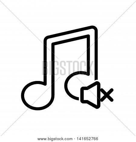 music note melody sound icon. Isolated and flat illustration. Vector graphic