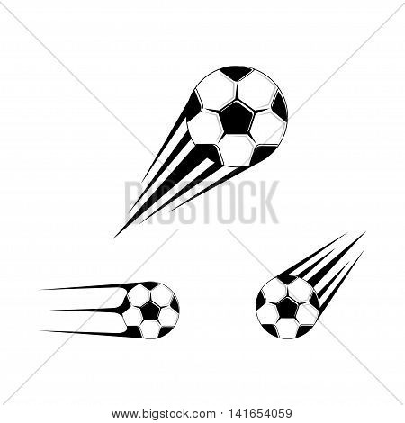Football logo for the team and the cup. vector illustration