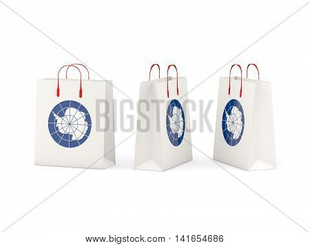 Flag Of Antarctica On Shopping Bags