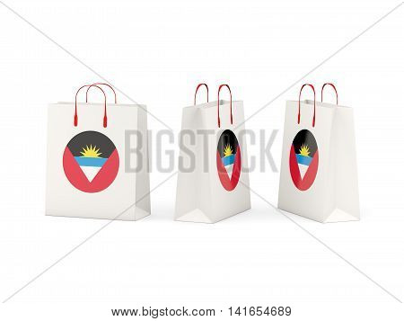 Flag Of Antigua And Barbuda On Shopping Bags