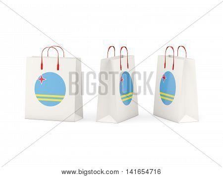 Flag Of Aruba On Shopping Bags