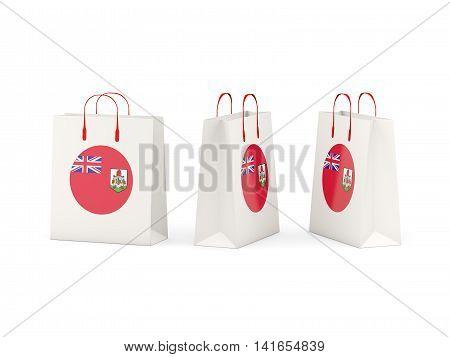 Flag Of Bermuda On Shopping Bags