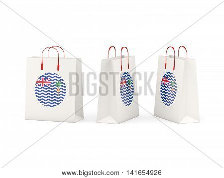 Flag Of British Indian Ocean Territory On Shopping Bags
