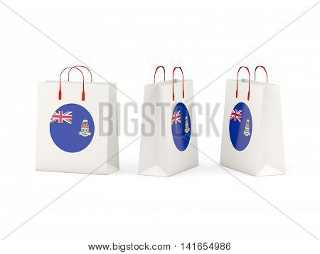 Flag Of Cayman Islands On Shopping Bags