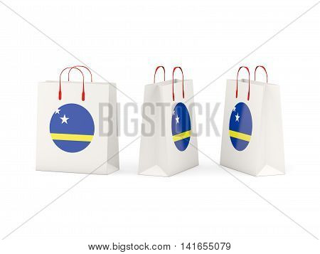 Flag Of Curacao On Shopping Bags