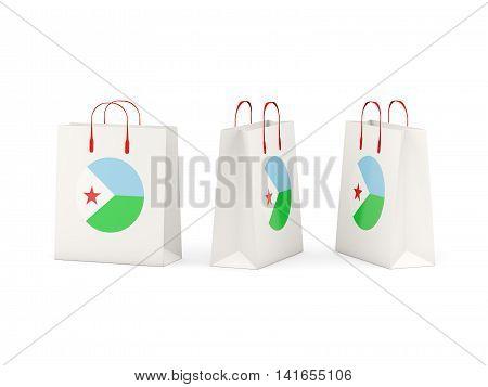 Flag Of Djibouti On Shopping Bags