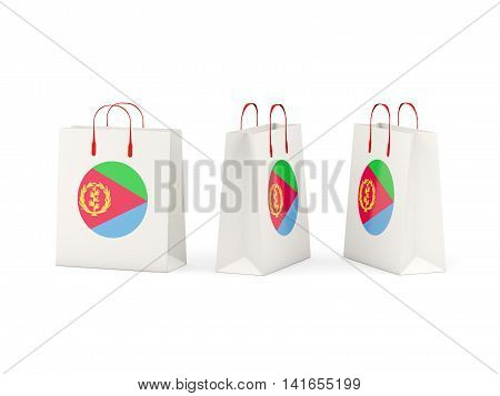 Flag Of Eritrea On Shopping Bags