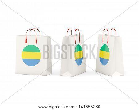Flag Of Gabon On Shopping Bags