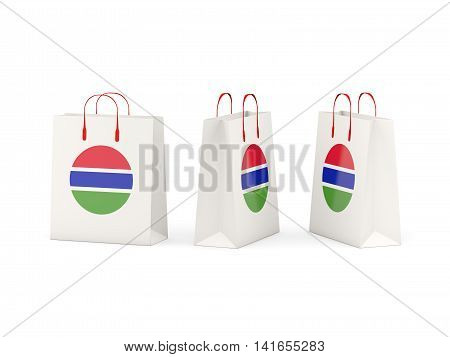 Flag Of Gambia On Shopping Bags