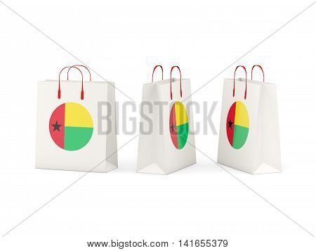Flag Of Guinea Bissau On Shopping Bags