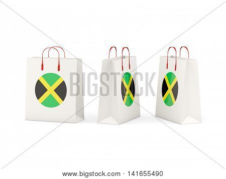 Flag Of Jamaica On Shopping Bags