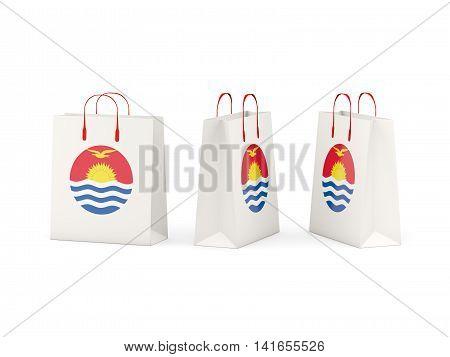 Flag Of Kiribati On Shopping Bags